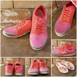 New Balance Pink Coral Revlite Shoes Breast Cancer
